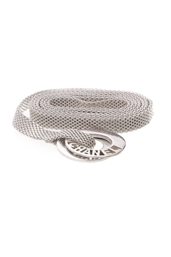 Chanel Mesh Chain Belt Silver