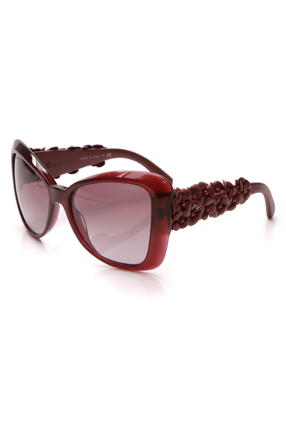 Chanel Camellia Square Sunglasses 5317-Q Burgundy