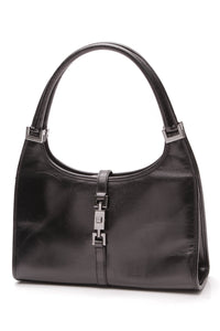 Gucci Vintage Bardot Bag Black Leather