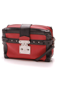 Louis Vuitton Petite Malle Soft MM Bag Red Black Leather