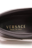 Versace Medusa Perforated Slip-On Men's Sneakers Black Leather Size 40