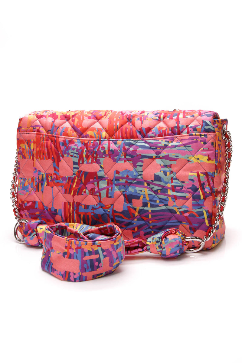 f4213591b969 Chanel Patchwork Flap Bag - Multicolor Satin – Couture USA