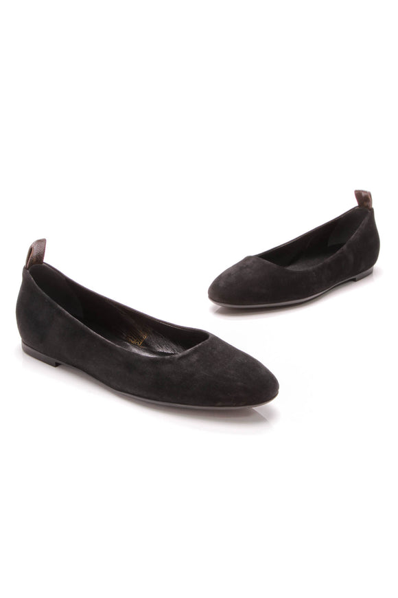 Louis Vuitton Uniforme Flats Black Suede Size 40
