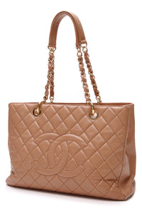 Chanel GST Grand Shopping Tote Bag Tan Caviar