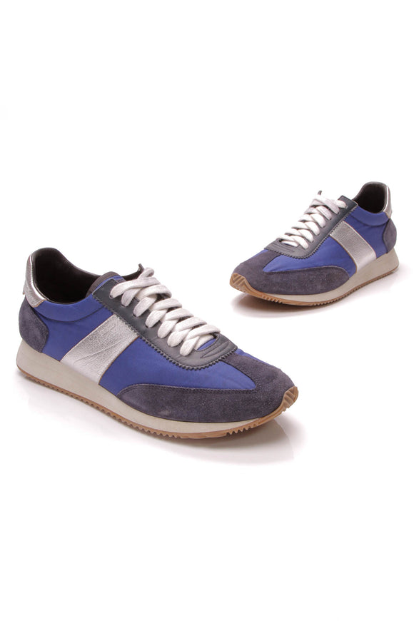 Yves Saint Laurent YSL SL/20 Trainer Sneakers Blue Size 41