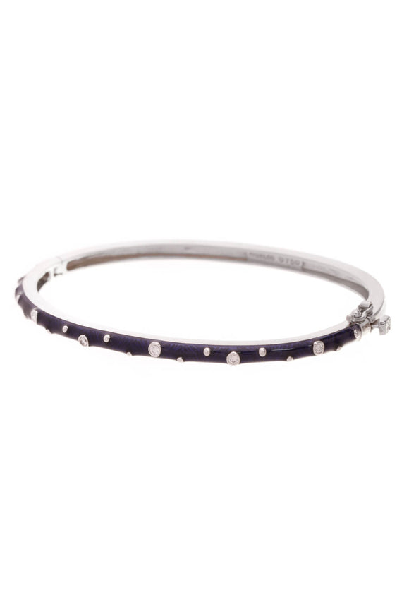 Hidalgo Diamond Enamel Bracelet White Gold