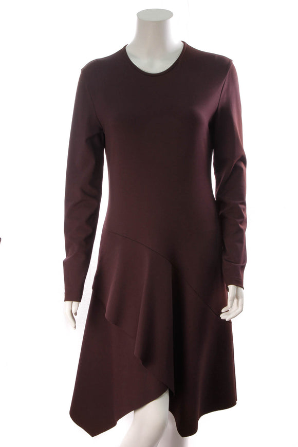 Givenchy Flared Skirt Midi Dress Maroon Size 44
