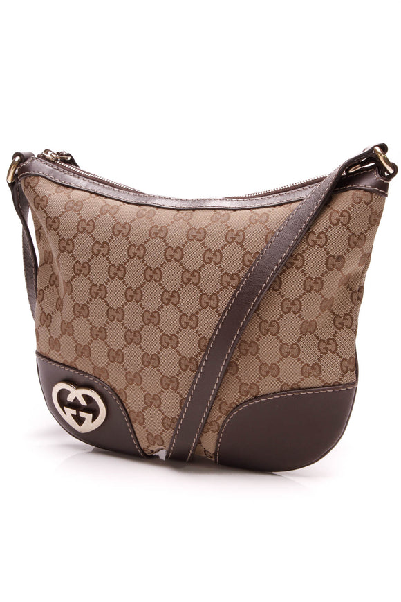 Gucci Small Lovely Messenger Bag Signature Canvas Beige Brown