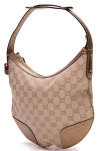 Gucci Small Princy Shoulder Bag Signature Canvas Bronze Brown