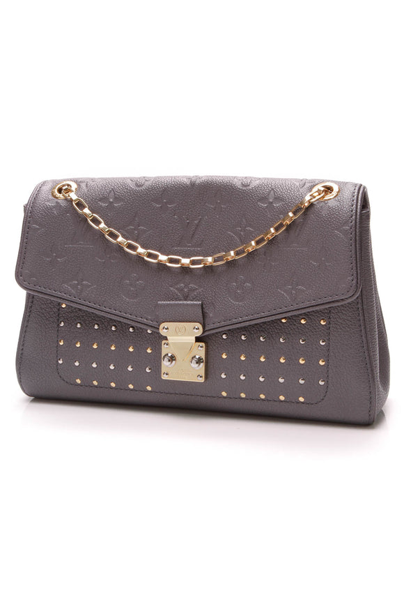 Louis Vuitton Studded St. Germain PM Bag Platine Empreinte Leather Grey