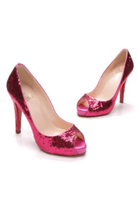 Christian Louboutin Very Prive Pumps Pink Sequin Size 37