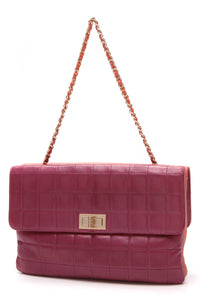 Chanel Reissue Chocolate Bar Two Tone Flap Shoulder Bag Lambskin Pink Orange
