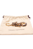 Louis Vuitton Insolence Bag Charm Ecaille Gold Brown