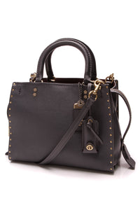 Coach Rogue 25 Rivets Bag Midnight Navy