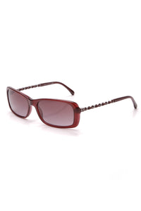 Chanel Rectangular Chain Sunglasses 5209-Q Burgundy