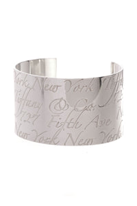 Tiffany & Co. Notes Wide Cuff Bracelet Silver