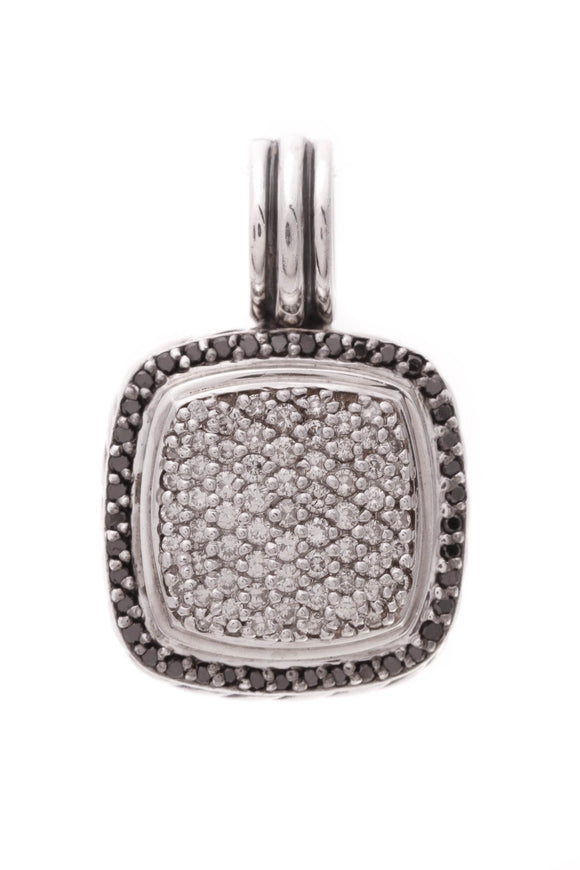 David Yurman Pave Diamond 14mm Albion Pendant Silver