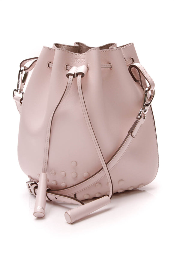 TOD'S Secchiello Bucket Bag Pink Leather