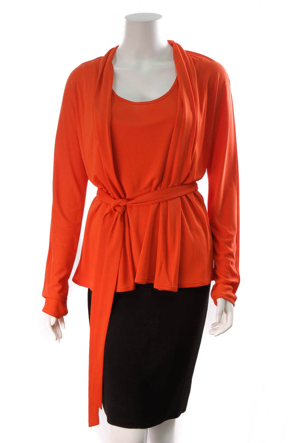 Hermes Belted Blouse Orange Size 38