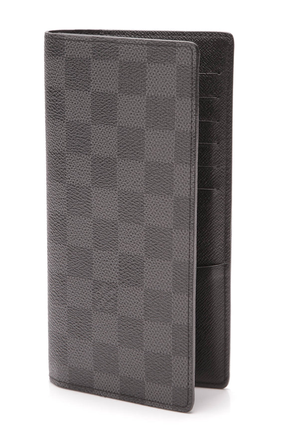 Louis Vuitton Brazza Wallet Damier Graphite Gray