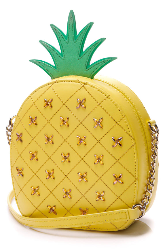 Kate Spade How Refreshing Pineapple Crossbody Bag Yellow