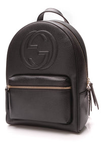 Gucci Soho Chain Backpack Black Leather