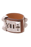 Hermes Collier de Chien Bracelet Brown Alligator