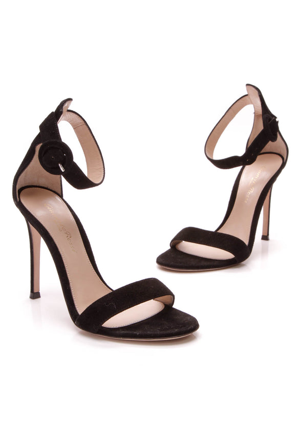 Gianvito Rossi Portofino 105 Heeled Sandals Black Size 35