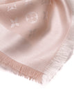Louis Vuitton Denim Shawl Scarf Pink Monogram