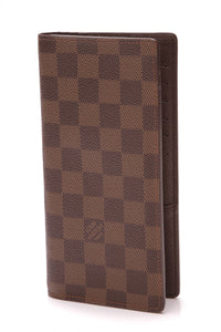 Louis Vuitton Brazza Wallet Damier Ebene Brown