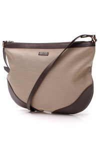 Gucci Messenger Bag Natural Canvas Brown