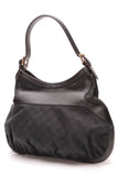 Gucci Medium Queen Hobo Bag Black Signature Canvas