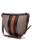 Gucci Web Stripe Crossbody Bag Navy Diamante Canvas