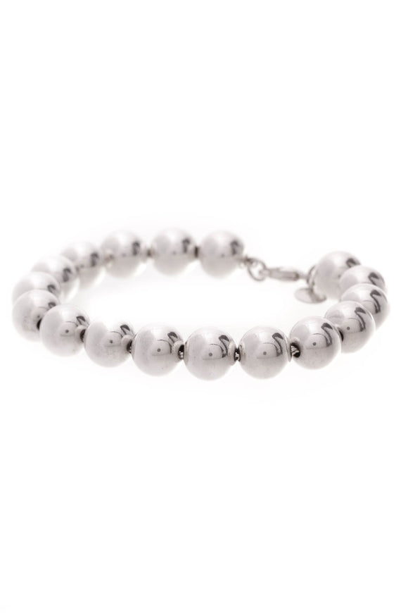 Tiffany & Co. 10mm Bead Bracelet Silver