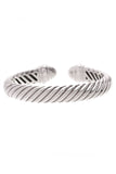 David Yurman Pave Diamond Waverly Bracelet Silver