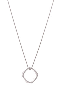 Tiffany & Co. Diamond Frank Gehry Torque Pendant Necklace White Gold