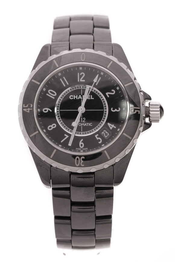 Chanel J12 38mm Swiss Quartz Watch Black Ceramic