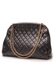 Chanel Just Mademoiselle Bowling Bag Black Lambskin