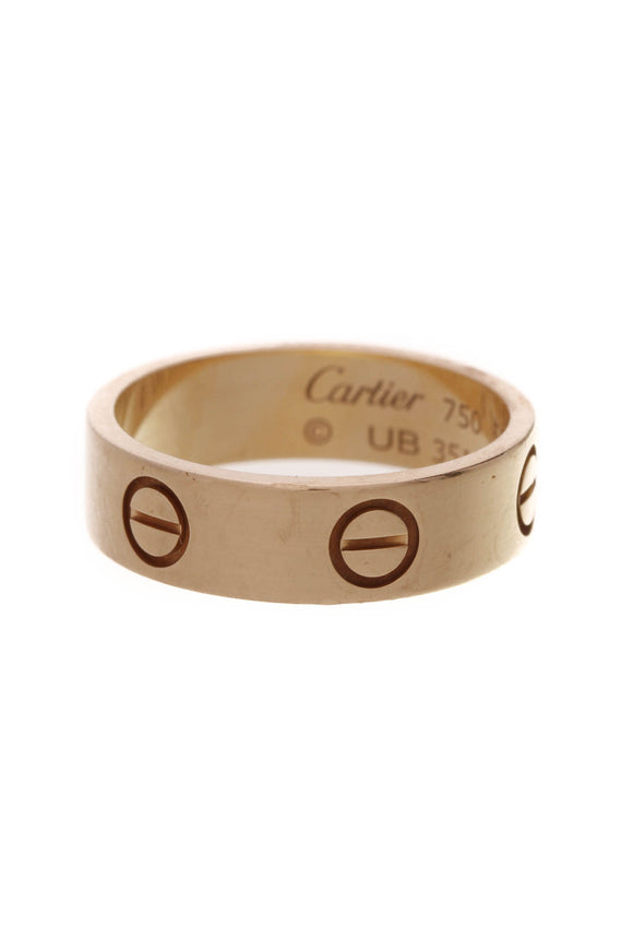 Cartier Love Band Ring Yellow Gold Size 6.25