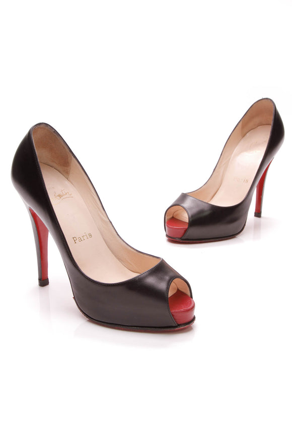 Christian Louboutin Very Prive Pumps Black Size 36
