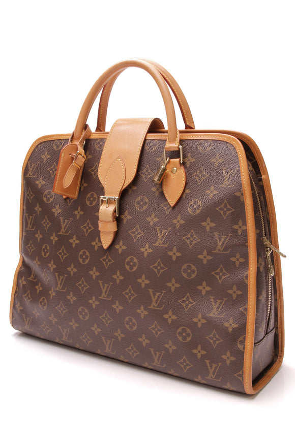 Louis Vuitton Vintage Rivoli Briefcase Monogram Canvas Brown