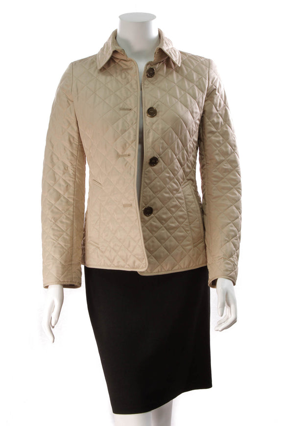 Burberry Quilted Jacket Tan
