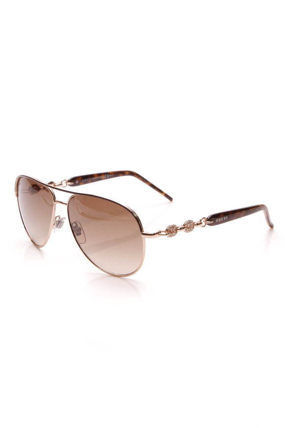 Gucci Marina Chain Aviator Sunglasses 4239 Brown