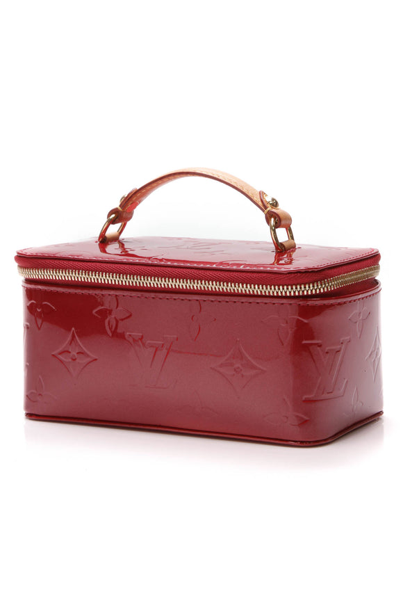 Louis Vuitton Vanity Jewel Case Pomme d' Amour Vernis Leather Red
