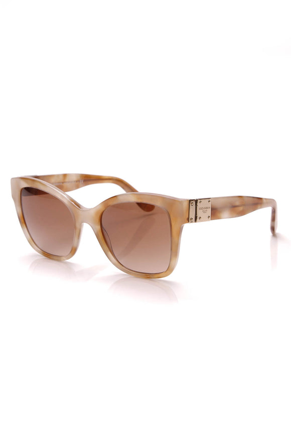 Dolce and Gabbana Logo Plaque Sunglasses DG4309 Light Brown