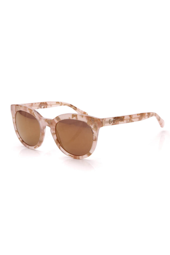Dolce and Gabbana Square Sunglasses DG4249 Beige Light Pink