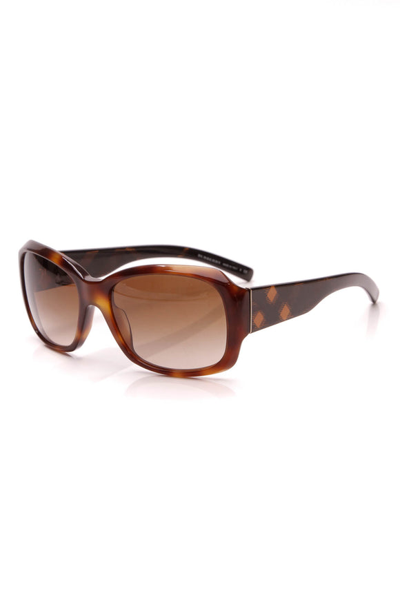 Burberry Round Check Sunglasses 4129 Brown