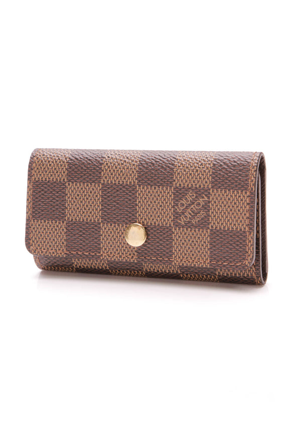 Louis Vuitton 4 Key Holder Damier Ebene Brown