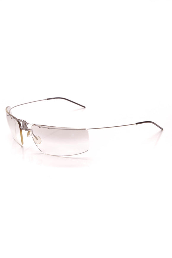 Chanel Fold-Up Rimless Sunglasses 4032 Clear