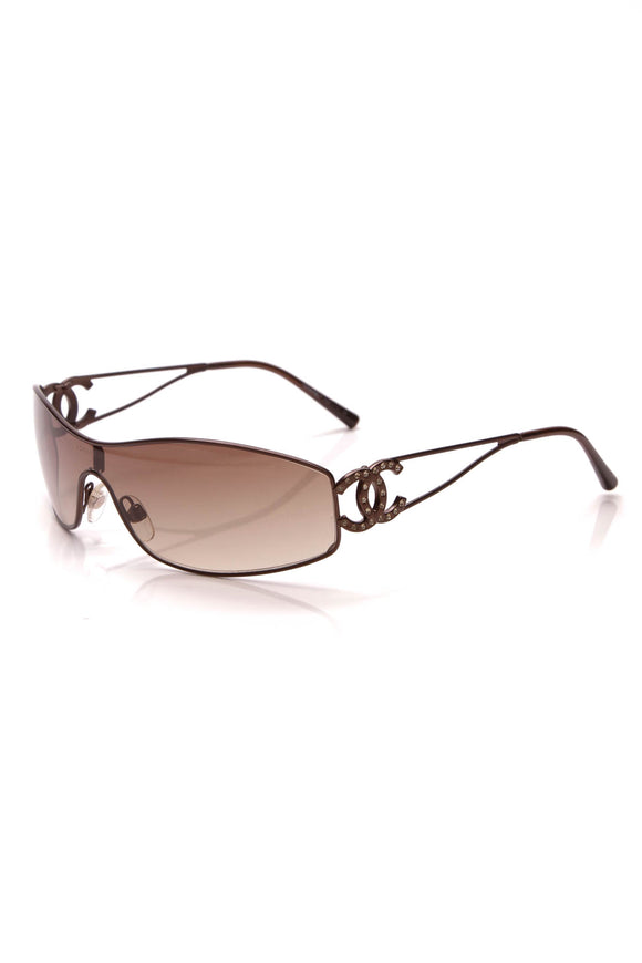 Chanel Crystal CC Sunglasses 4073-B Brown